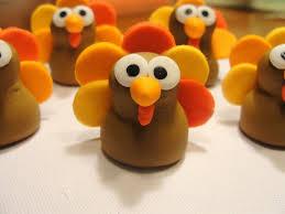 thanksgiving inspiration fondant cupcake toppers