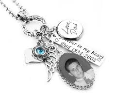 Personalized Memorial Necklace Personalized Memorial Photo Jewelry With Engraved Handwriting In