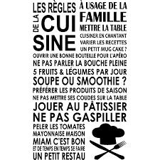 stickers pour la cuisine sticker les régles de la cuisine toque stickers citations français