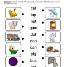 cvc worksheet 1 matching phonics worksheets spelling
