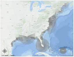 United States Storm Map by National Storm Surge Hazard Maps Version 2