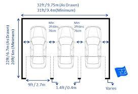 garage dimensions triple garage dimensions 3 doors jpg