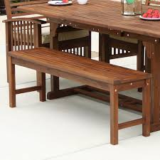 walker edison owb7sdb acacia wood patio bench in dark brown solid