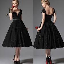 rochii de cocktail vintage dantela neagra