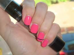 beautifulyouworld easy barbie pink nail design with rhinestones