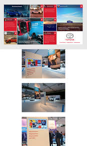 toyota web page toyota livewall concepts