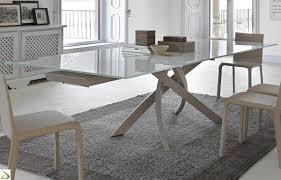tavoli design cristallo tavolo cristallo allungabile sedie da cucina moderne epierre