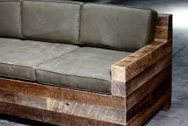 rustic sofas and loveseats rustic couch made of four by fours with denim covered cushions