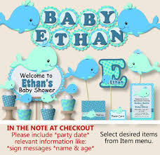 customized baby items customized baby shower banners free whale baby shower