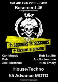 ra rave crew sessions at basement 45 west wales