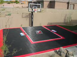 backyard basketball court portland trailblazers sport court