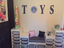 our kids u0027 play area we used the trofast storage from ikea and