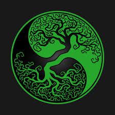 green and black tree of yin yang yin yang t shirt teepublic