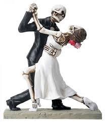 skeleton cake topper never dies skulls wedding cake topper my day to be