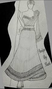 indian dress sketch indian dress sketch pinterest sketches
