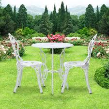 Balcony Bistro Set Patio Furniture by Ikayaa 3pcs Garden Bistro Set Patio Bistro Set Outdoor Furniture