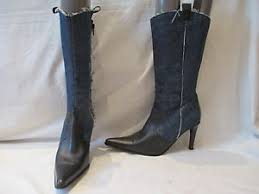 s heeled boots uk dorothy perkins denim leather pull on high heel boots uk 7 eu 41