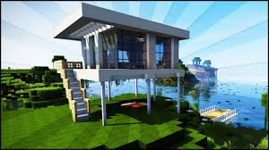 minecraft modern starter house tutorial how to build an easy
