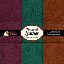 leather scrap book textured leather digital scrapbook paper vintage embossed
