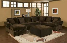 Brown Sectional Sofa With Chaise 3 Pc Bradley Sectional Sofa With Chocolate Plush Velour Microfiber