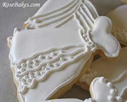 Recipe Decorated Cookies Wedding Dress Cookies Roll Out Sugar Cookie Recipe