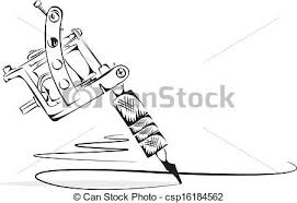 tattoo gun sketch draft sketch of a tattoo machine clip art vector search drawings