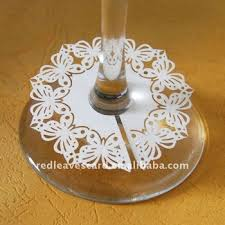 new design laser cut paper wedding decoration wine claims tag