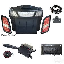 ezgo rxv golf cart led light bar and tail light kit with deluxe
