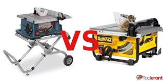 dewalt table saw rip fence extension the best portable table saw dewalt dw745 or bosch 4100 09