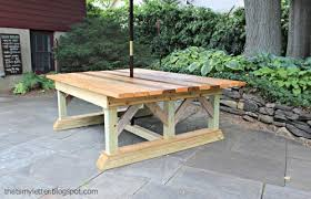 Ana White Picnic Table Ana White Double Trestle Outdoor Table Diy Projects
