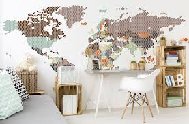 murals posters wall stickers canvas prints myloview com map wall sticker