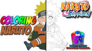 uzumaki naruto naruto shippuden anime coloring games for kids