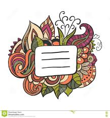 free doodle name copybook cover doodle name tag vector stock illustration image