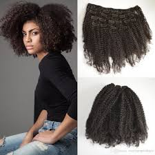 cheap clip in hair extensions 4a 4b 4c afro kinki curly clip in human hair extensions