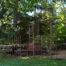 belham living gated hodgson garden metal arbor with matching
