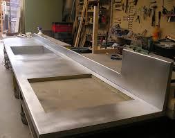 plan de travail en zinc pour cuisine best zinc plan de travail photos transformatorio us avec feuille de
