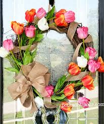 spring door wreaths spring wreath ideas real simple