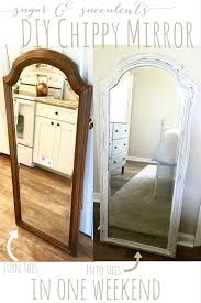 diy cottage farmhouse chippy mirror frame everything home magazine