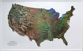 us relief map raised relief maps 3d topographic map united states series