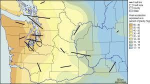 physical map of oregon juan de fuca plate comparing population exposure to washington earthquake