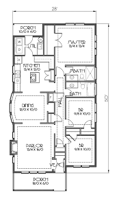 craftsman bungalow floor plans house plan 76819 at familyhomeplans com
