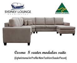 Modular Chaise Lounge Brand New Aus Made Cosmo 8 Seater Modular Suite Pecan Corner