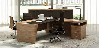 Leather Office Desk Wood And Leather Office Desk X10 By Officity Quadrifoglio