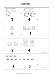 free kindergarten addition worksheets learning to add through math