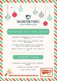 christmas party menu dallington fitness