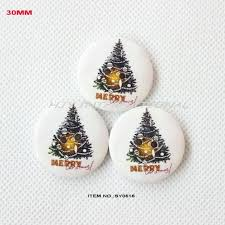 best round christmas tree painted wooden buttons bulk craft party