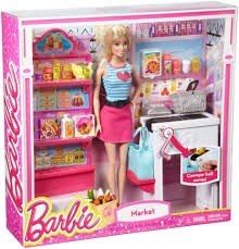 barbie malibu ave grocery store with barbie doll playset toys