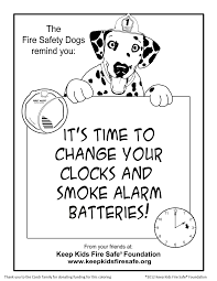 sparkles the fire safety dog new coloring page