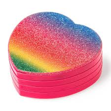 rainbow glitter heart compact make up set claire u0027s ca