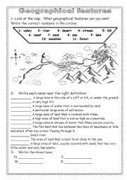 english teaching worksheets geographical features